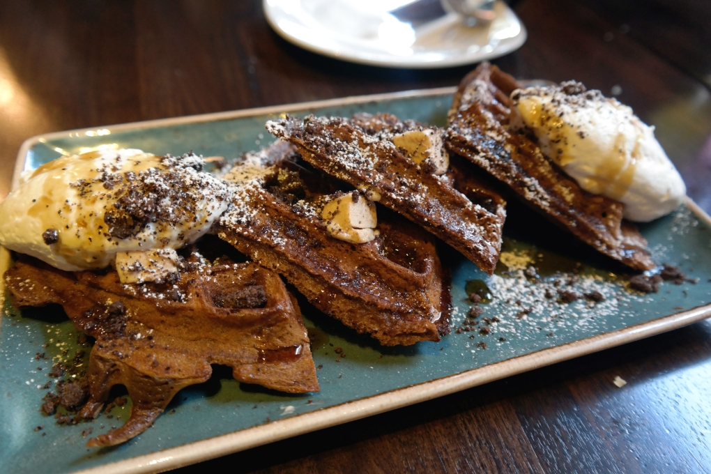 Greek Coffee Waffles at Kapnos DC